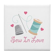 Sew In Love Tile Coaster