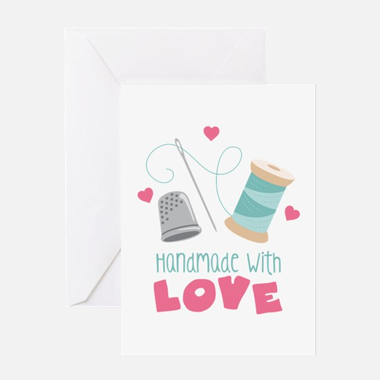 Handmade With Love Greeting Cards