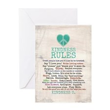 Kindness Rules Greeting Card