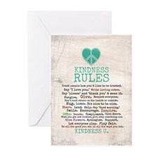 Kindness Rules Greeting Cards (Pk Of 10)
