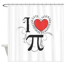 I Heart Pi Shower Curtain