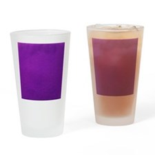 Purple textured stripes Drinking Glass