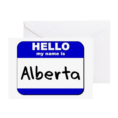 hello my name is alberta Greeting Cards (Package
