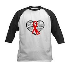 Vasculitis Heart Ribbon Collage Baseball Jersey