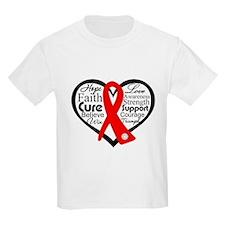 Vasculitis Heart Ribbon Collage T-Shirt