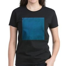 Aqua texture stripes T-Shirt