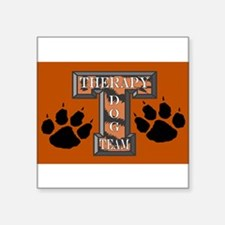 Therapy Dog Team Rectangle Sticker