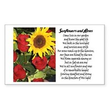 Sunflowers and Roses Rectangle Decal