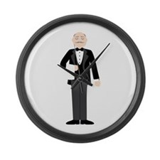 Male Server Large Wall Clock