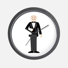 Male Server Wall Clock