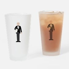 Male Server Drinking Glass