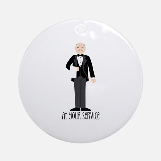 At Your Service Ornament (Round)
