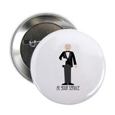 "At Your Service 2.25"" Button (10 pack)"