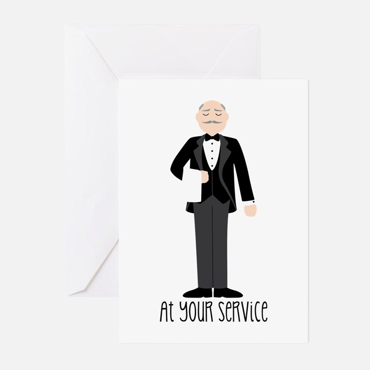 At Your Service Greeting Cards