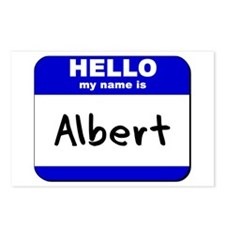hello my name is albert  Postcards (Package of 8)