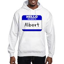 hello my name is albert Jumper Hoody