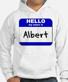 hello my name is albert Jumper Hoody