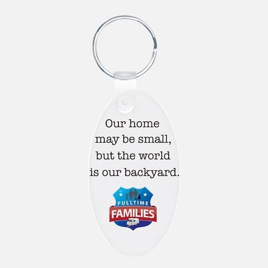 World is backyard. Keychains