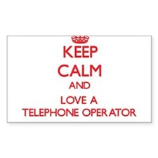 Keep Calm and Love a Telephone Operator Decal