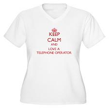 Keep Calm and Love a Telephone Operator Plus Size