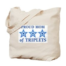 Mom of Triplets (Boys) Stars Tote Bag