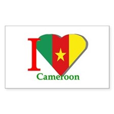 I love Cameroon Rectangle Decal