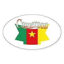 Cameroun flag ribbon Oval Decal