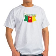 Cameroun flag ribbon T-Shirt