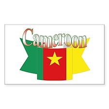 Cameroun flag ribbon Rectangle Decal