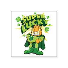 "Super Lucky Garfield Square Sticker 3"" x 3"""