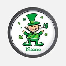 Personalized Wee Leprechaun Wall Clock