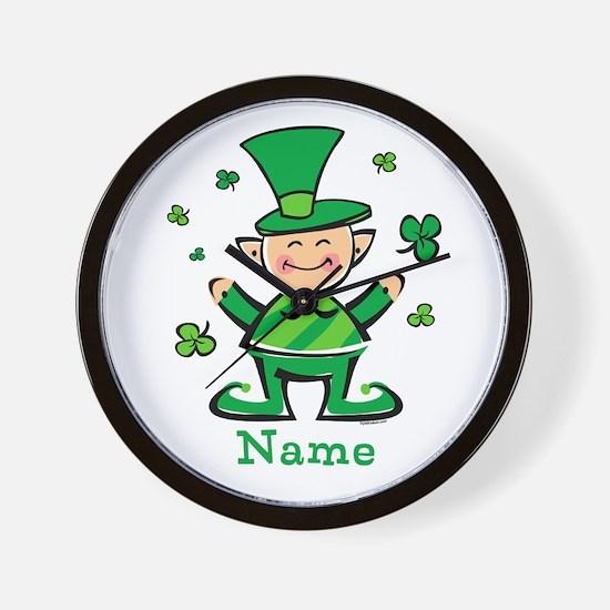 Personalized Wee Leprechaun Wall Clock