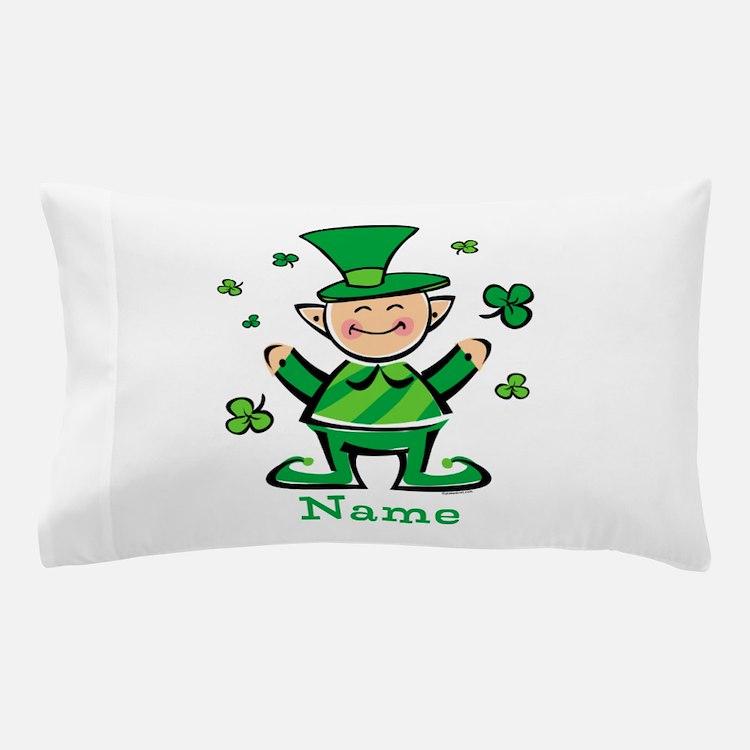 Personalized Wee Leprechaun Pillow Case