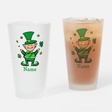 Personalized Wee Leprechaun Drinking Glass