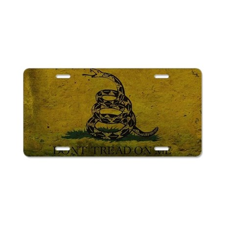 Gadsden4 Aluminum License Plate