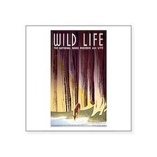 1930s Vintage Wildlife WPA Poster Sticker