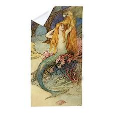 Vintage Mermaid Beach Towel