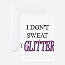 Cool Glitter Greeting Card