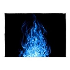 Blue Flames 5'X7'Area 5'X7'Area Rug
