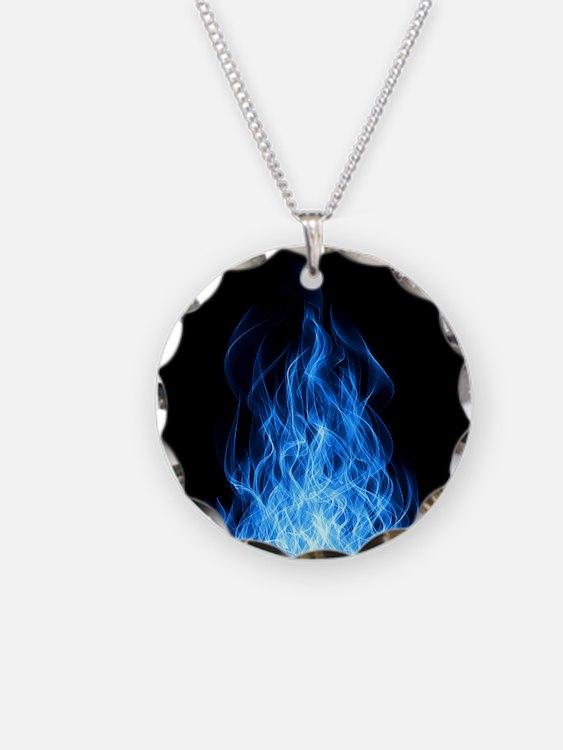 Blue Flames Necklace