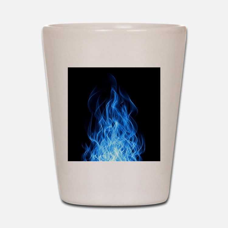 Blue Flames Shot Glass