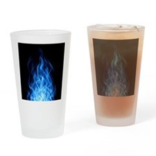 Blue Flames Drinking Glass