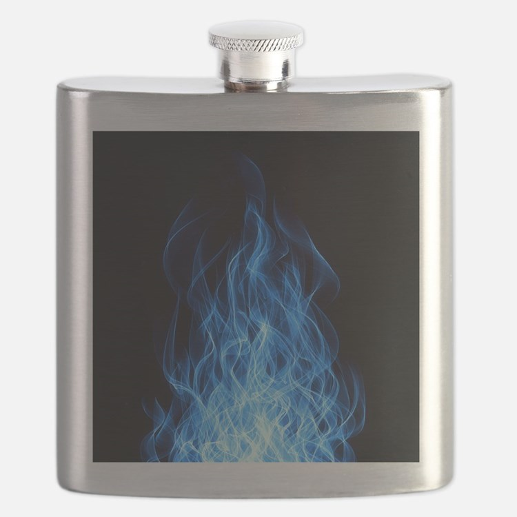 Blue Flames Flask