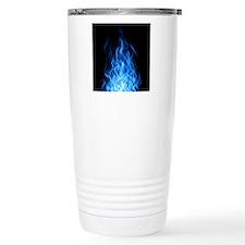 Blue Flames Travel Mug