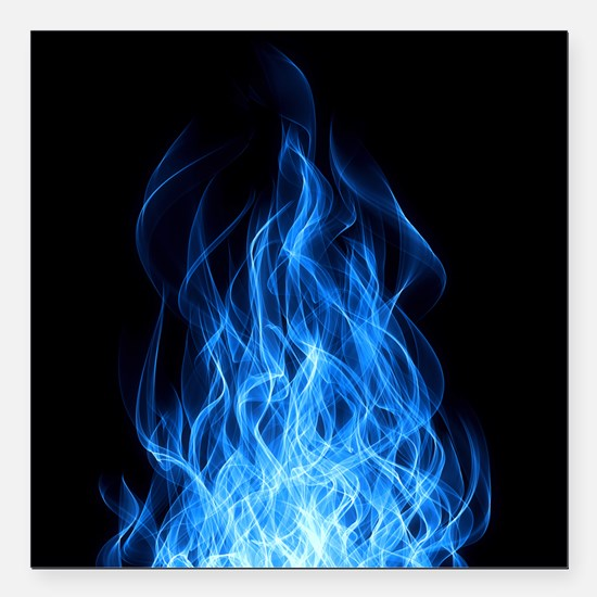 Blue Flame Car Magnets CafePress - Magnetic car decals flames
