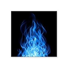 "Blue Flames Square Sticker 3"" x 3"""