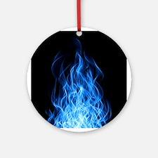 Blue Flames Ornament (Round)