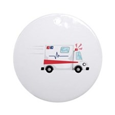 Fast Ambulance Ornament (Round)