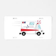 Fast Ambulance Aluminum License Plate