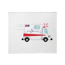 Fast Ambulance Throw Blanket